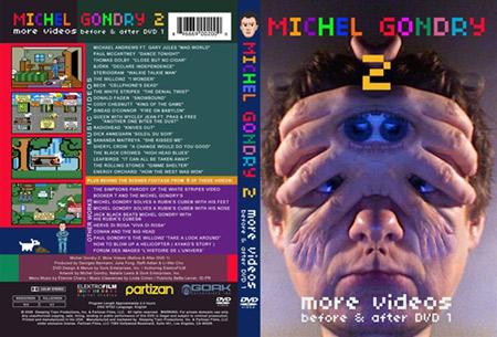 Caratula del DVD de videoclips musicales de Michel Gondry