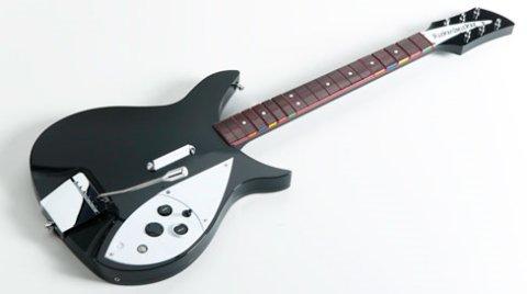 Imagen promocional de la guitarra Rickenbacker 325 de John Lennon para el videojuego The Beatles: Rock Band