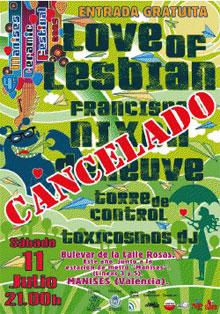 El cancelado cartel del Manises Ceramis Festival de 2009