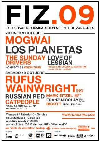 Cartel del FIZ 2009