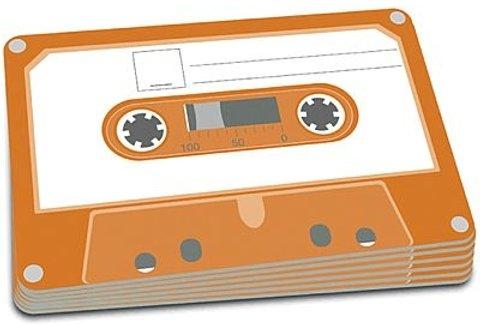 Mantel individual con motivo de una cinta de cassette