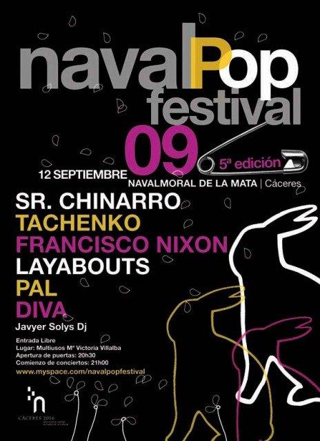 Cartel promocional del NavalPop Festival 09