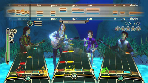 Captura de pantalla del videojuego The Beatles: Rock Band