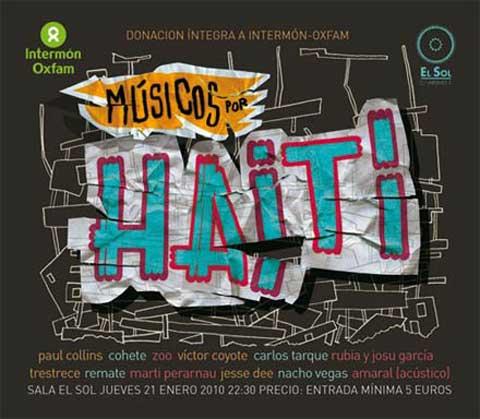 Cartel Musicos por Haití