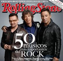 Portada de la revista Rolling Stone con la lista de Los 50 músicos más importantes del Rock