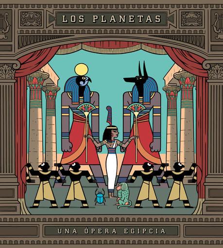 Portada del disco de Los Planetas, Una Opera Egipcia