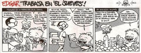 Tira cómica con Manos de Topo como protagonistas