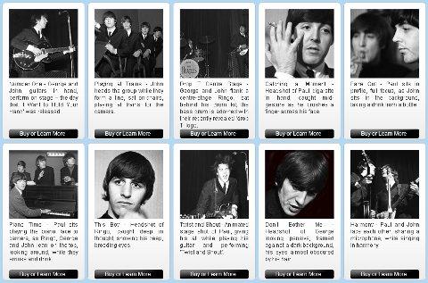 Parte de las fotos inéditas que han salido a la venta de THe Beatles