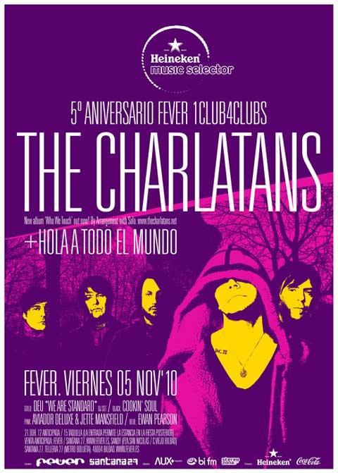 Cartel del concierto de The Charlatans en Fever