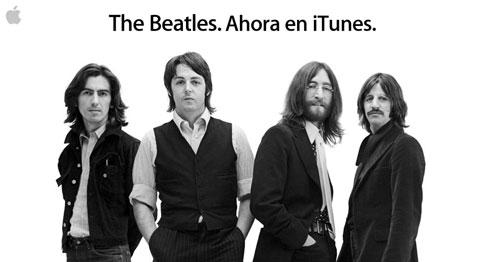 Imagen promocional de la legada de The Beatles a iTunes