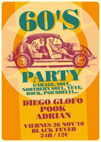 Cartel Fiesta 60's Fever