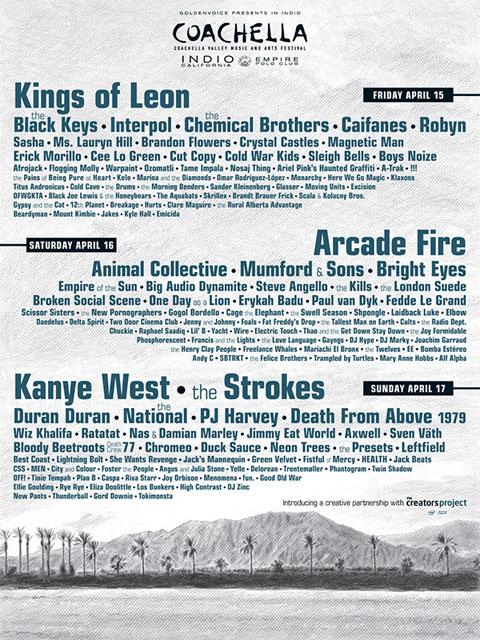 Cartel del Coachella 2011