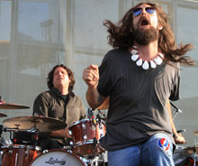 The Black Crowes durante un concierto