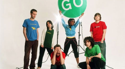El grupo The Go Team