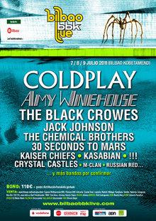 Cartel sin completar del Bilbao BBK Live 2011