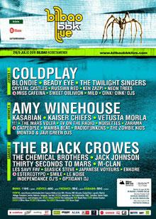 Cartel del Bilbao BBK Live 2011