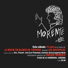 Cartel de la actuación de Los Discipulos en La Noche Blanca del Flamenco de Córdoba