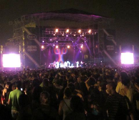 Momento del concierto de Scissor Sisters en el Arenal Sound