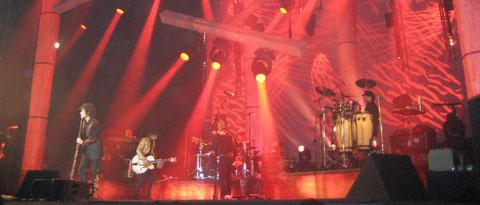 Bumbury durante el concierto de Santander