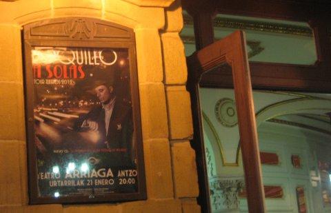 Cartel del concierto de Loquillo en el Teatro Arriaga