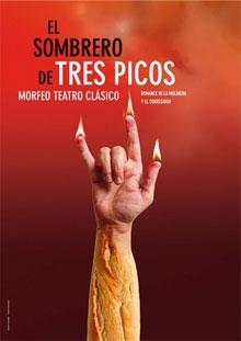 Cartel de la obra de teatro El Sombrero de Tres Picos