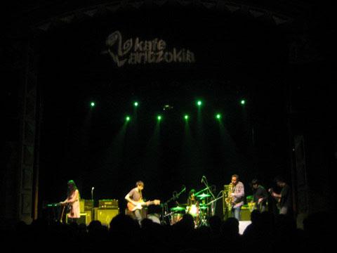 Los Jupiter Jon durante su concierto en el Kafe Antzoki
