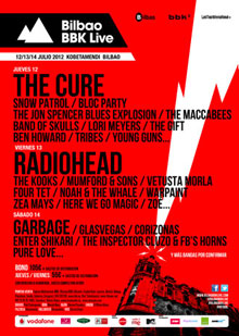 El que de momento es el cartel del Bilbao BBK Live 2012
