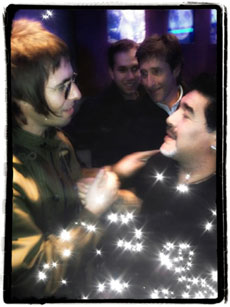 Liam Gallagher y Diego Armando Maradona