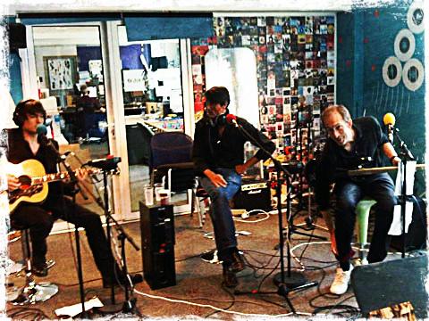 Suede en el estudio de grabación