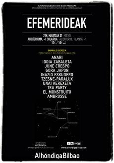 Cartel del ciclo Efemerideak