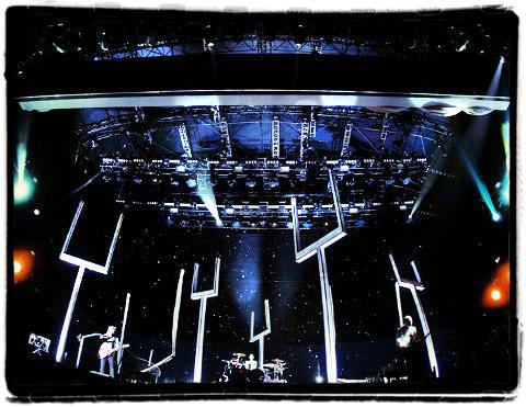 Muse durante un concierto