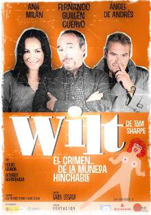 Cartel de la versión en castellano de la obra de teatro Wilt