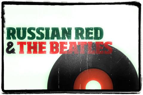 Imagen promocional de la gira de Russian Red tocando canciones de The Beatles