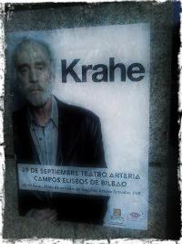 Cartel del concierto en Bilbao de javier Krahe