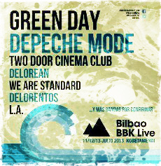 Green Day y Two Door Cinema Club capitanean las nuevas confirmaciones del Bilbao BBK Live 2013
