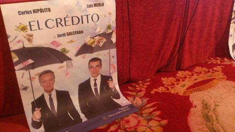 Carlos Hipólito y Luis Merlo estrenarán El crédito en el teatro Arriaga