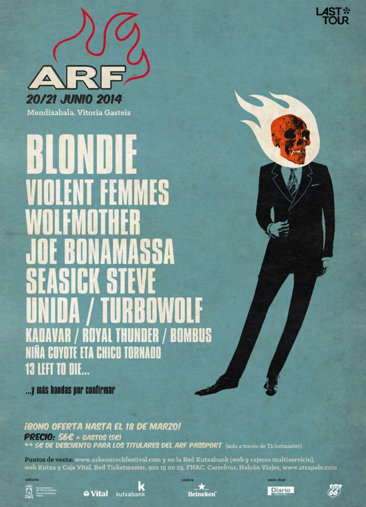Cartel provisional del Azkena Rock Festival 2014