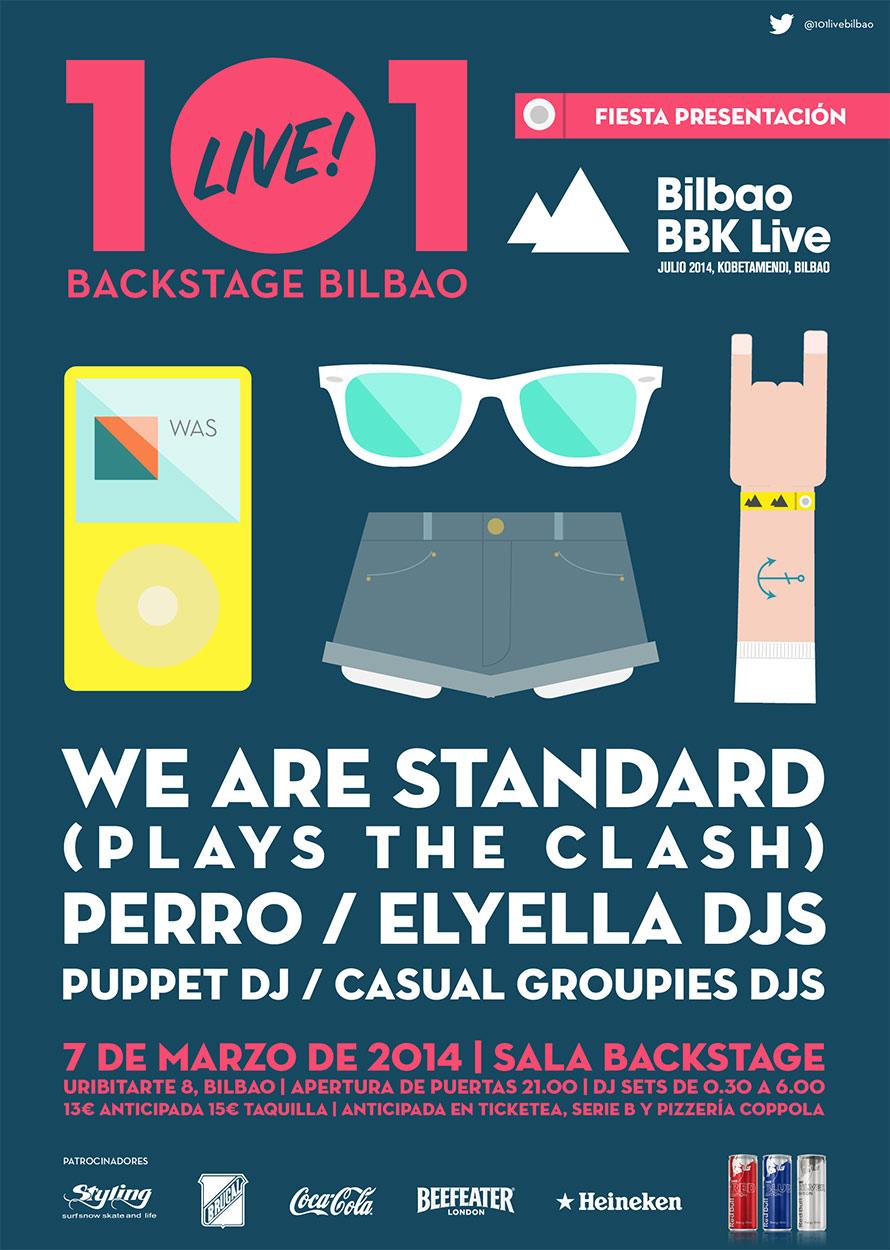 Cartel de la Fiesta de Presentación del Bilbao BBK Live 2014