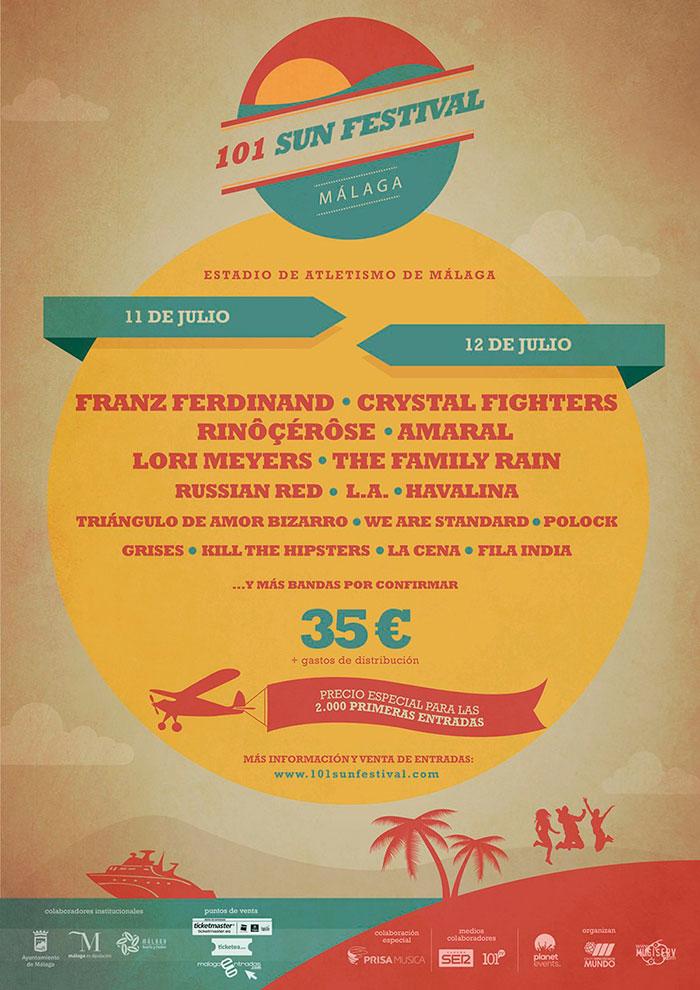 Cartel del 101 Sun Festival de Málaga