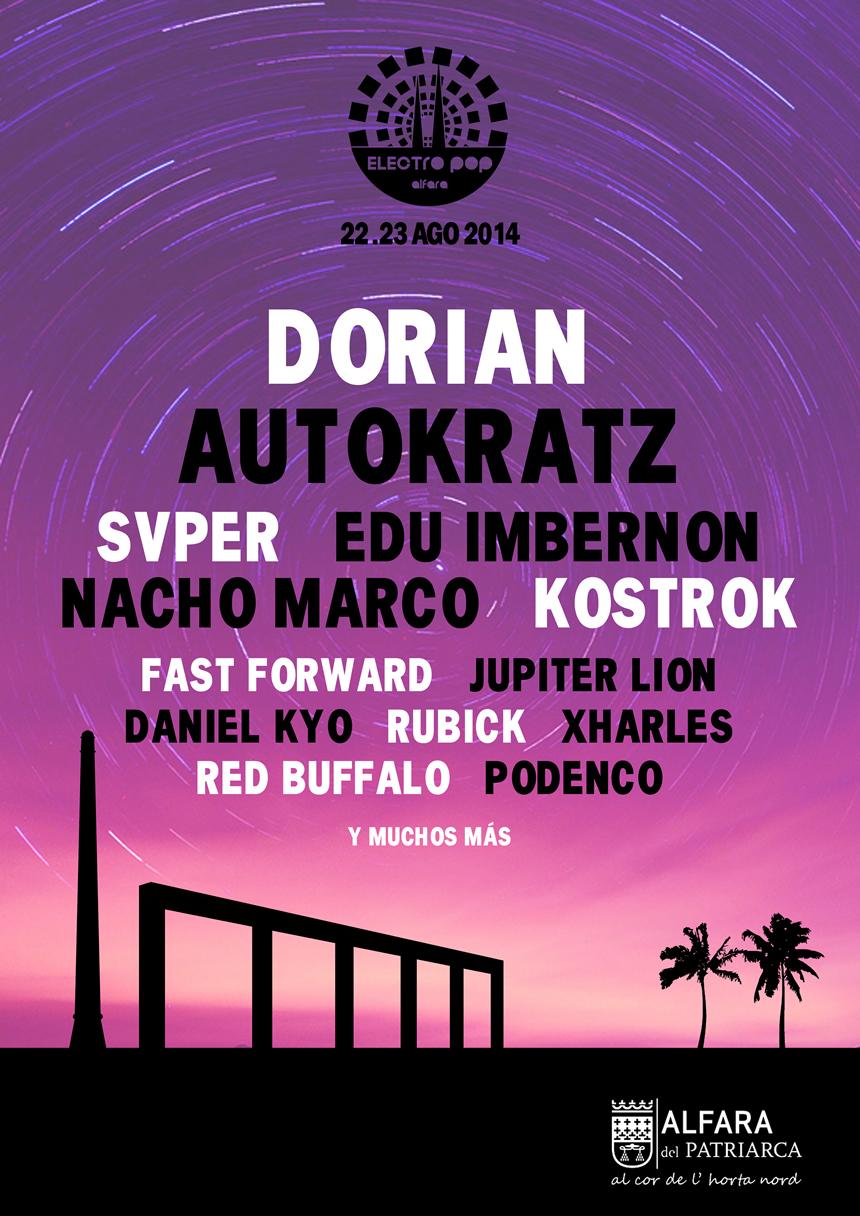 Cartel del Electro Pop Alfara Festival 2014