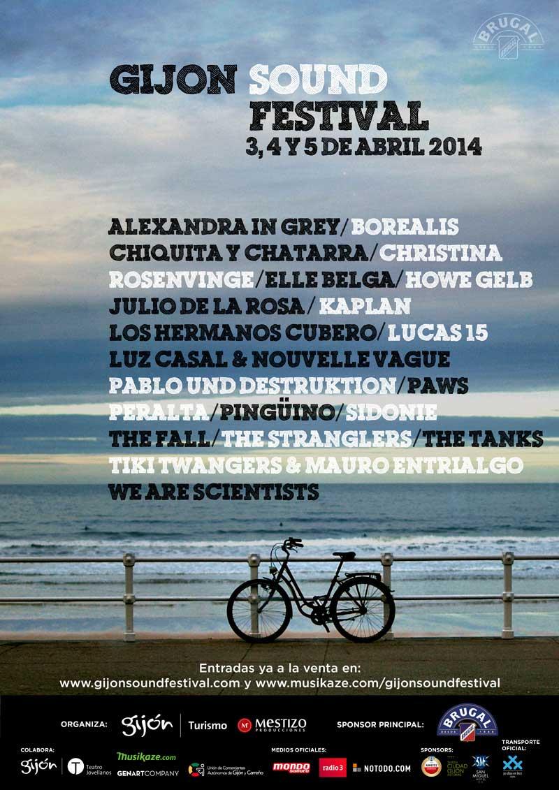 Cartel del Gijón Sound Festival 2014