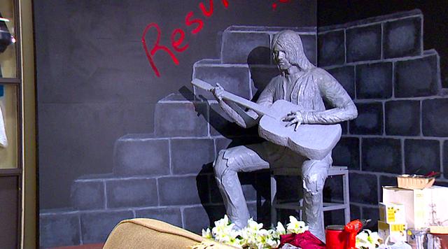 La polémica estatua de Kurt Cobain