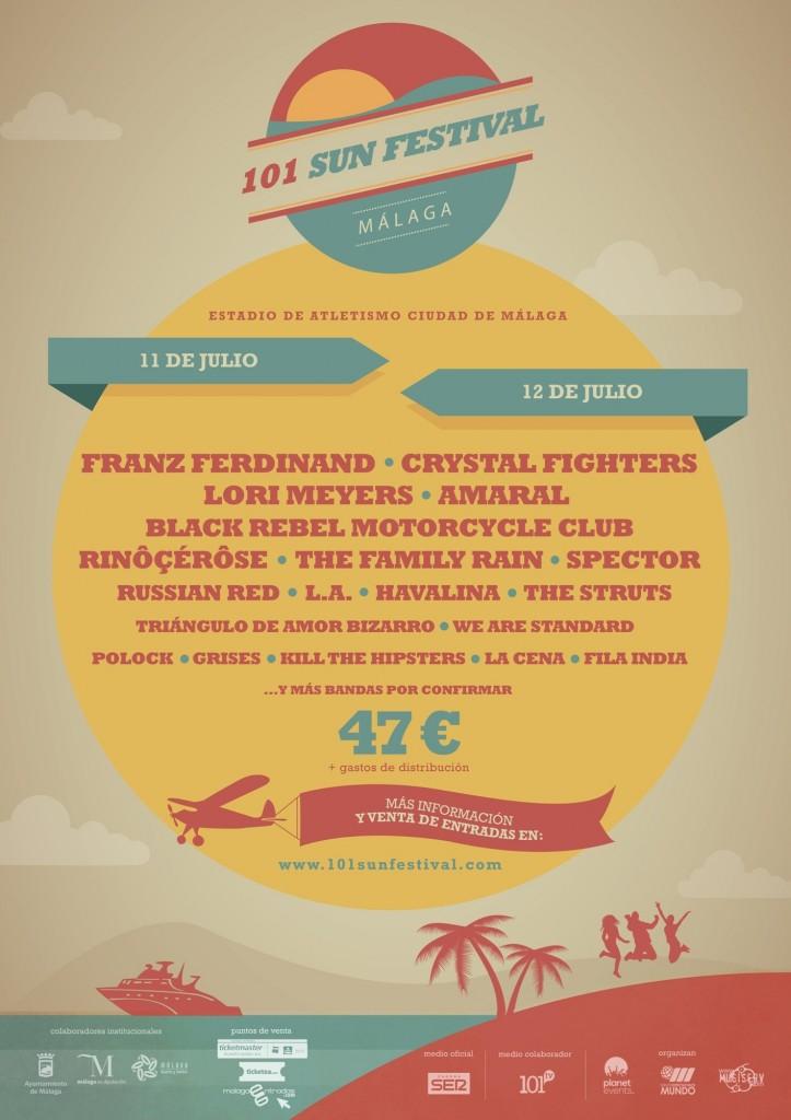 Cartel Provisional del 101 Sun Festival