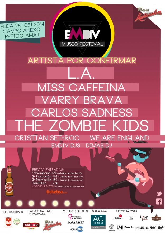 Cartel promocional del EMDIV Music Festival 2014