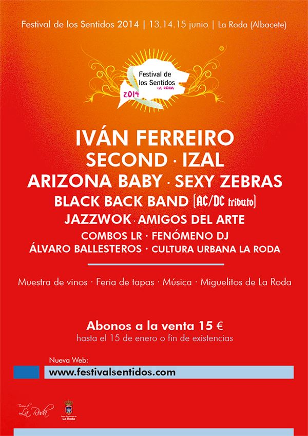 Cartel promocional del Festival de los Sentidos 2014