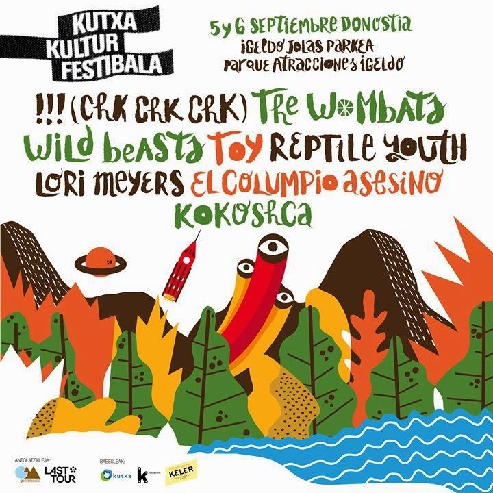 Cartel Provisional del Kutxa Kultur Festibala 2014
