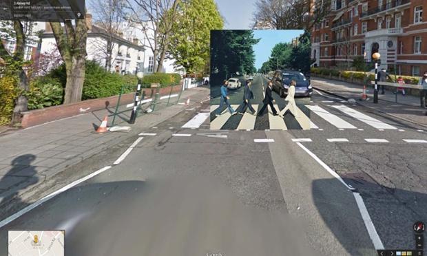 """El """"Abbey Road"""" de The Beatles sobre Google Street View"""